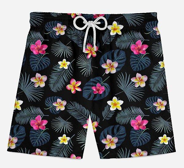 Short Praia Infantil Little Flowers