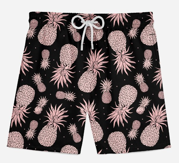 Short Praia Infantil Pineapple Golden