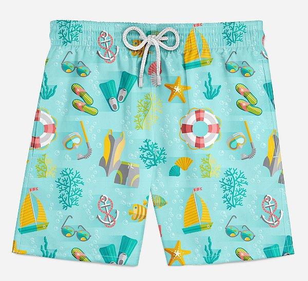 Short Praia Infantil Férias de Verão