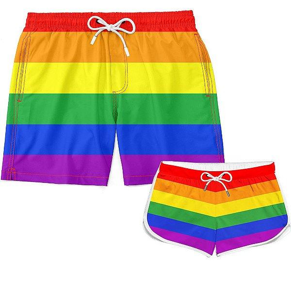 Kit Casal Short LGBT Básico