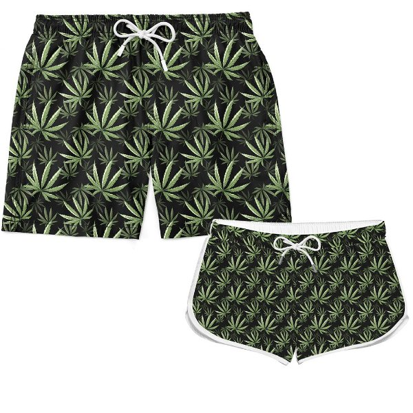Kit Casal Short Verão Cannabis