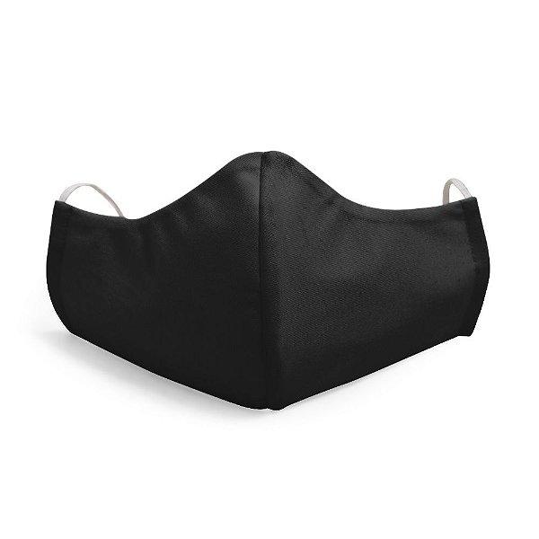 Mascara Proteção Facial Liso Preto