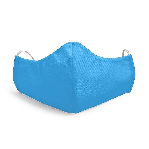 Mascara Proteção Facial Liso Azul Bebê