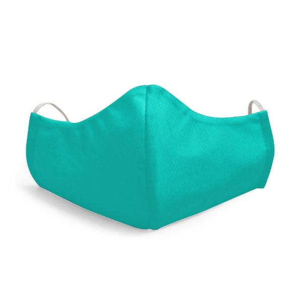 Mascara Proteção Facial Liso Verde-Água