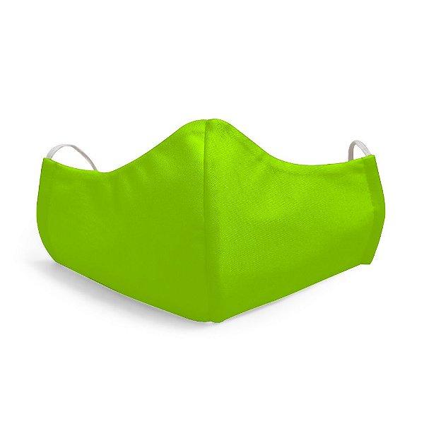 Mascara Proteção Facial Liso Verde-Limão