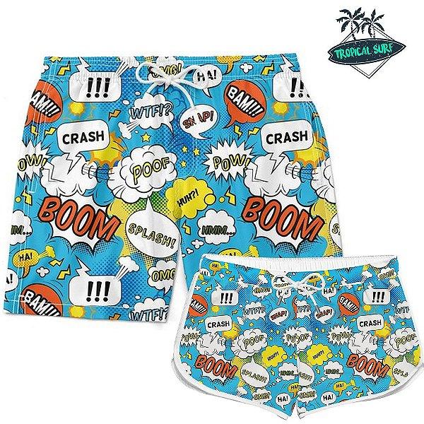 Kit Casal Short Verão Boom
