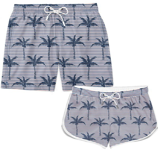 Kit Casal Short Palm Trees