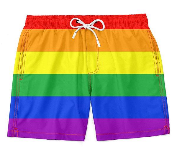 Bermuda Short Praia LGBT Básico