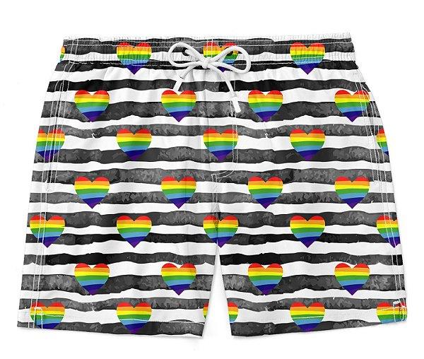 Bermuda Short Praia Love Gay