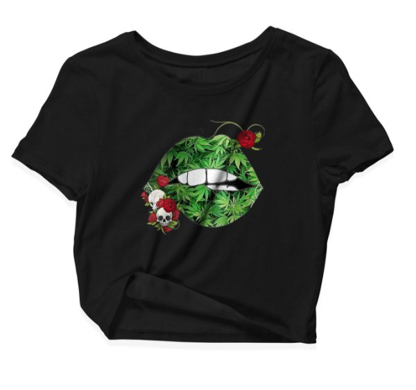 Camiseta Cropped Boca Weed