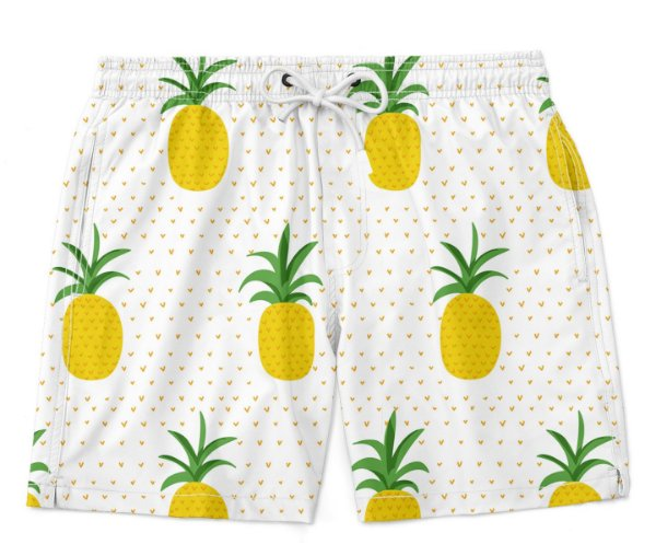 Bermuda Short Praia Verão Pineapple