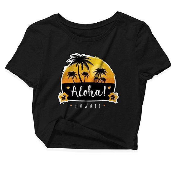 Camiseta Cropped Aloha Hawaii