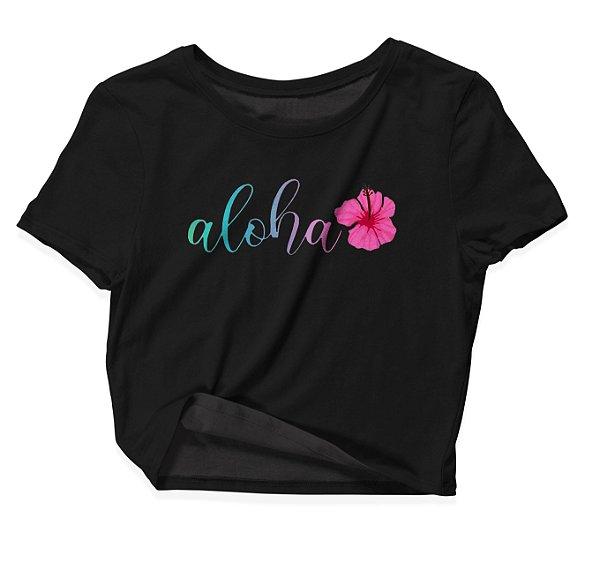 Camiseta Cropped Aloha