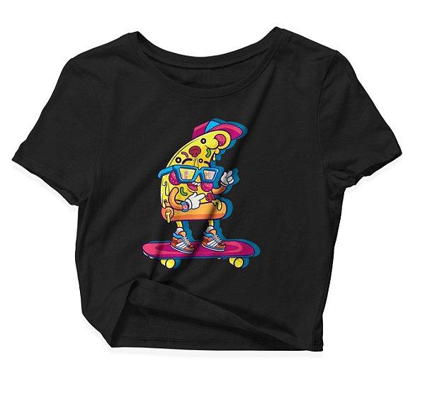 Camiseta Cropped Pizza SK8