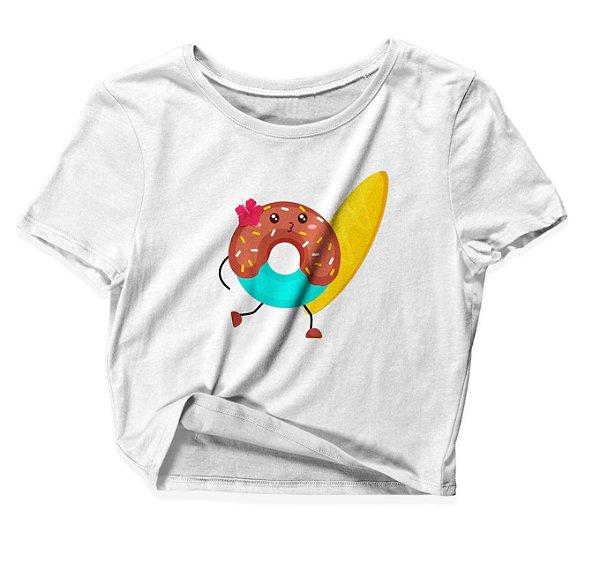 Camiseta Cropped Donut Surfista