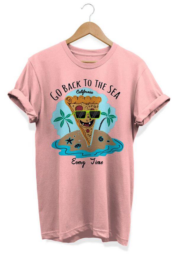 Camiseta Unissex Go Back To The Sea