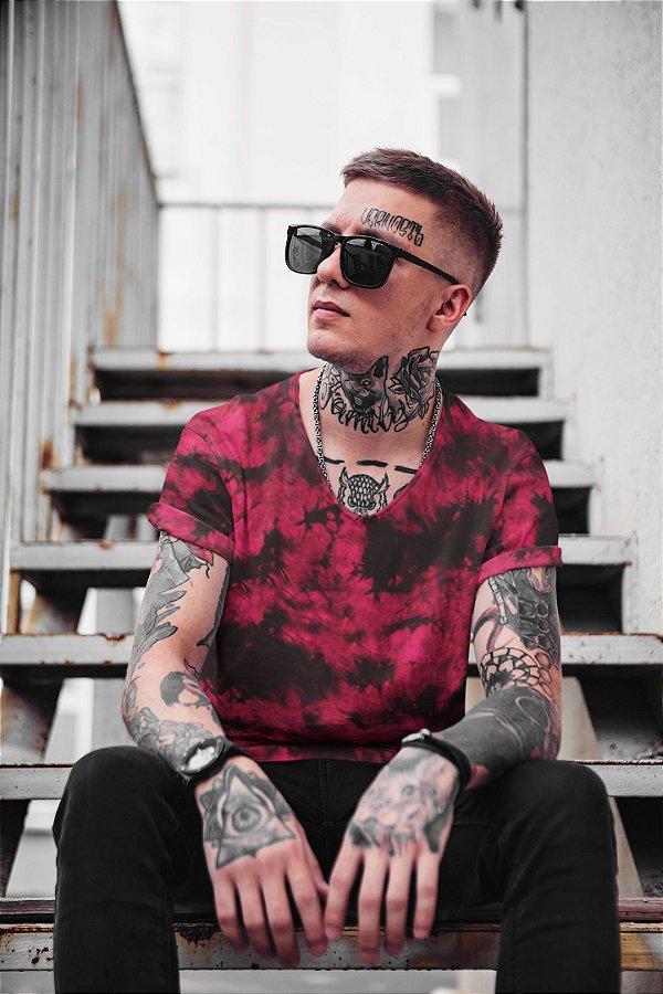 Camiseta Unissex Tie Dye Pink