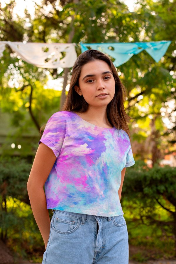 Camiseta Cropped Tie Dye Baby Summer