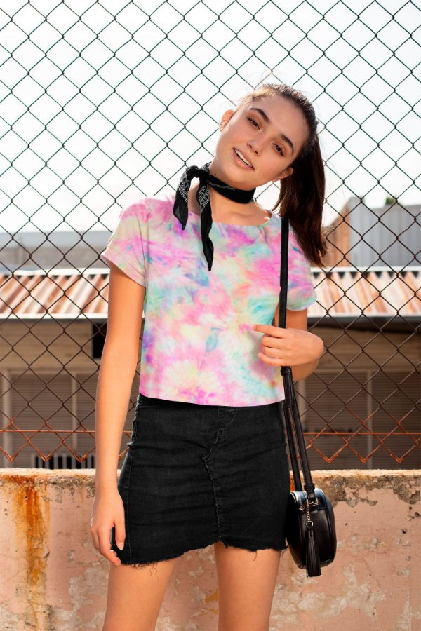 Camiseta Cropped Tie Dye Color