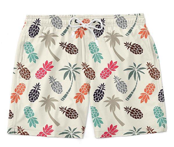 Bermuda Short Praia Pineapple Colors