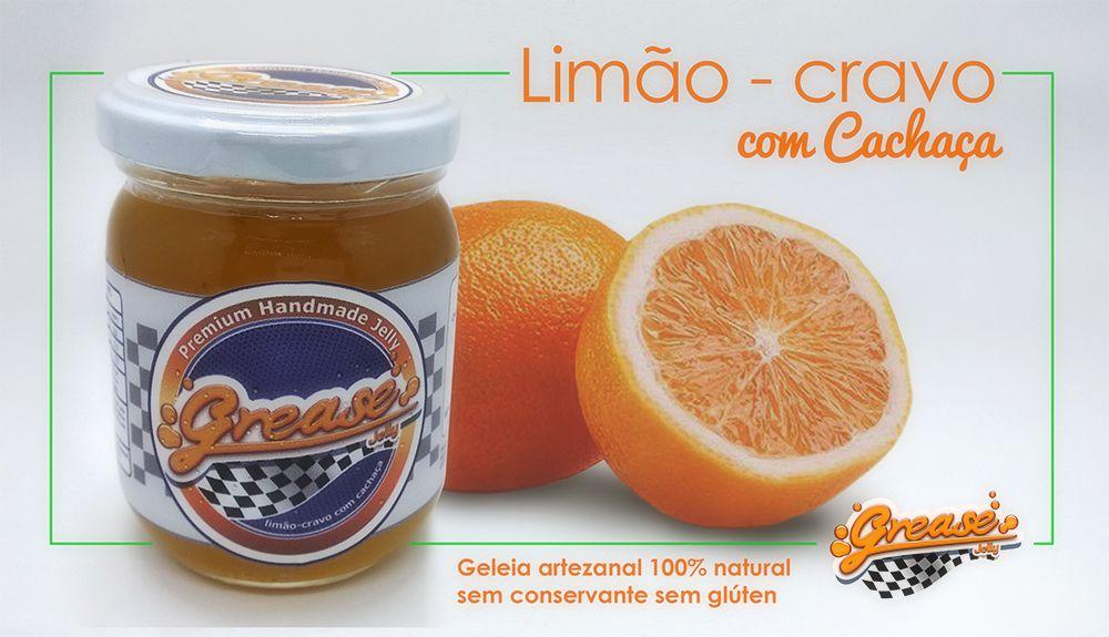 Geleia de Limão-cravo com Cachaça - 220 g