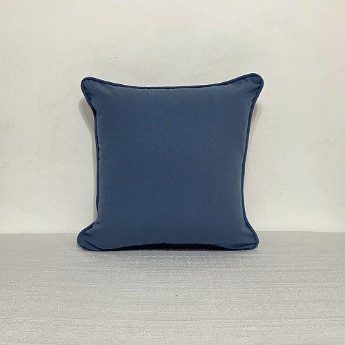 Capa Para Almofada Com Vivo Azul Indigo