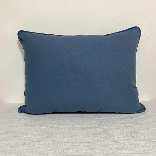 Porta Travesseiro Liso Azul Indigo