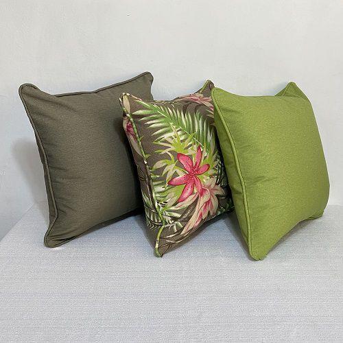 Kit Impermeável Padrão Flores Fúcsia e Verde