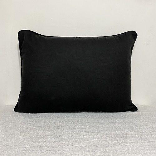 Porta Travesseiro Cotone Preto