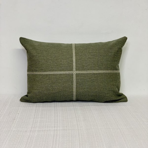 Capa Para Almofada Bordada Cruz Stone Verde