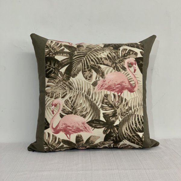 Capa Para Almofada Pw Aqua Flamingo Rosa