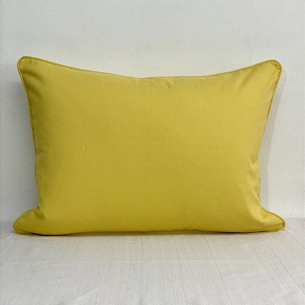 Porta Travesseiro Brim Amarelo
