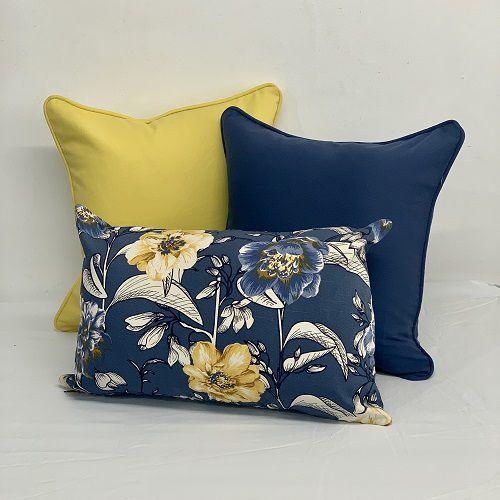 Kit Baguete Flores Azul e Amarelo