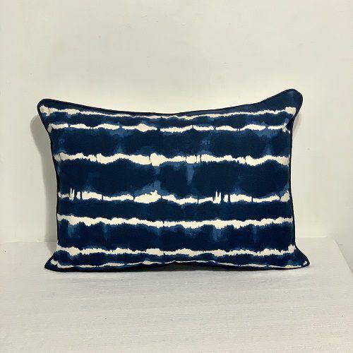 Porta Travesseiro Dupla Face Tai Dai Azul Marinho