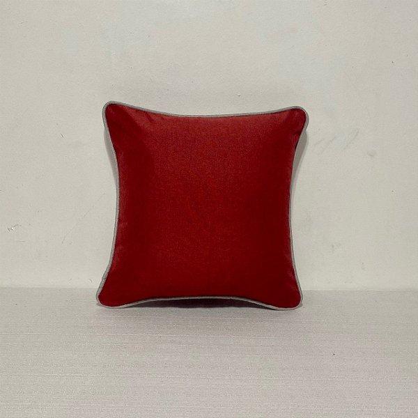 Capa Para Almofada Vermelha Com Vivo Areia