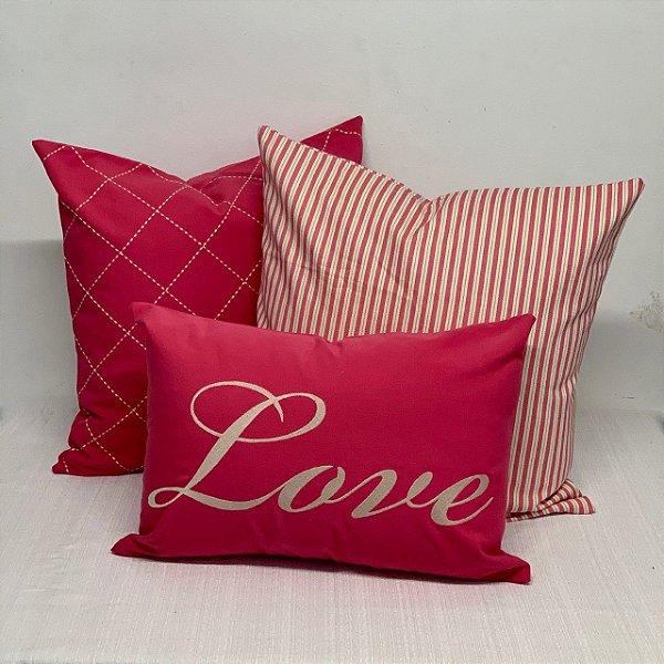 Kit Baguete Love Rosa Choque
