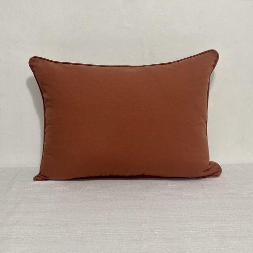 Porta Travesseiro Liso Terracota