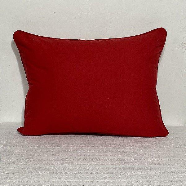 Porta Travesseiro Pop Liso Vermelho