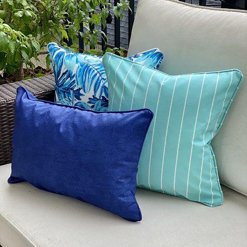 Kit Impermeável Flores Azul Padrão