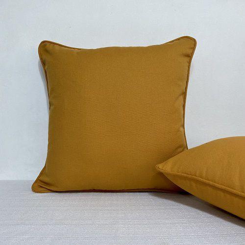 Capa Para Almofada Com Vivo Cotone Amarelo Curry