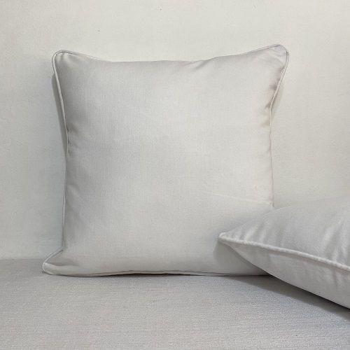 Capa Para Almofada Com Vivo Delfi Branco