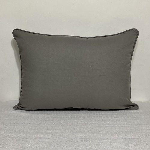 Porta Travesseiro Cotone Liso Cinza