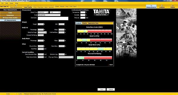 Software ilimitado Para Tanita Bc 1500 e BC 1000 Healthy Edge Plus