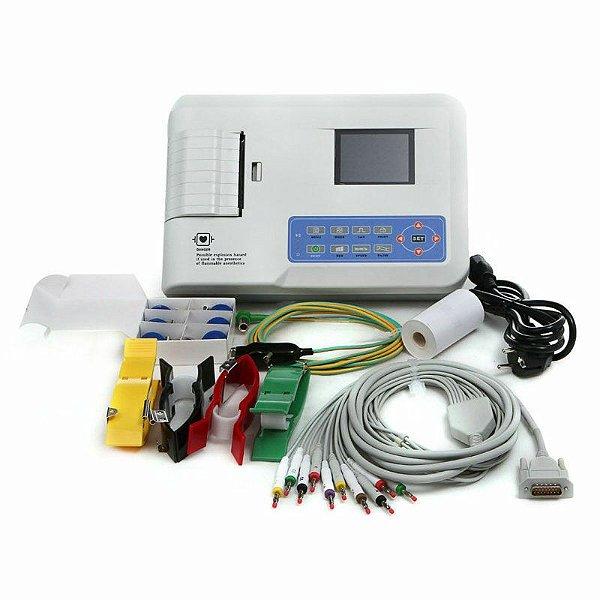 Contec Ecg300g Eletrocardiógrafo Ligação 3 Canais