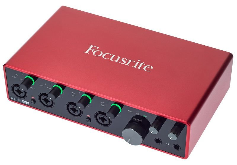 Interface de aúdio Focusrite Scarlett 18i8 3a Geração
