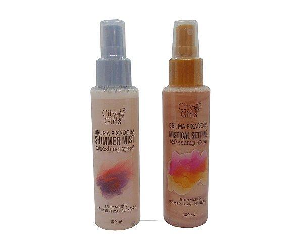Bruma Fixadora City Girls Mistical Setting & Shimmer Mist Refreshing Spray