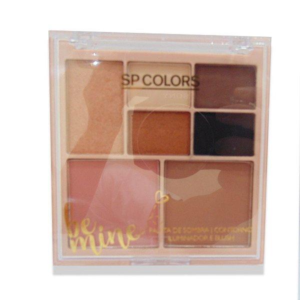Paleta de sombra, contorno, blush e iluminador Sp Colors Be mine
