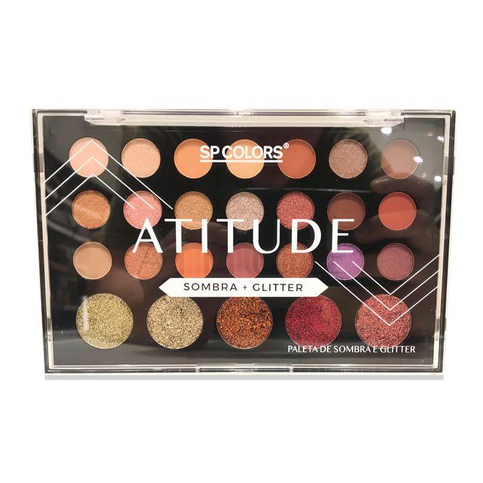 Paleta de Sombra e Glitter Sp Colors Atitude
