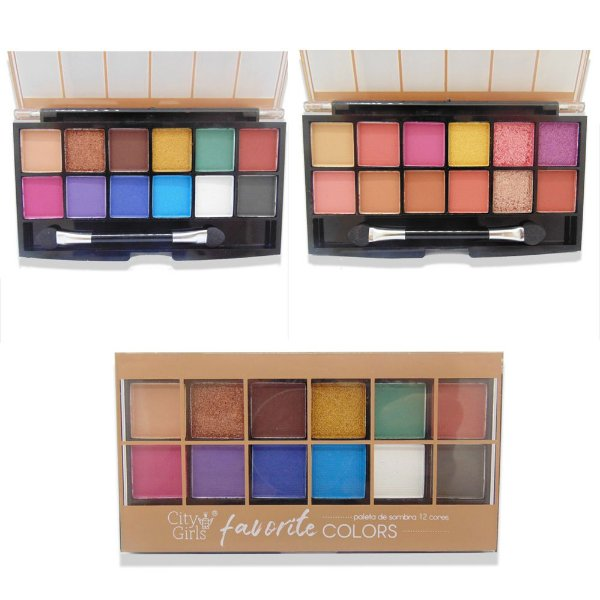 Paleta de sombra City Girls Favorite Colors - 2 unidades