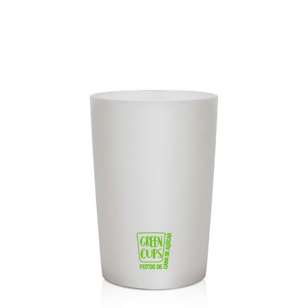 Green Cups Branco 200ml - Copo Eco Cana de Açúcar